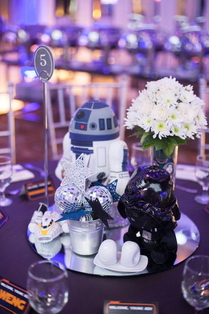 Blue And Silver Star Wars Birthday Party