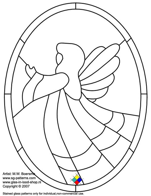 Free Printable Stained Glass Patterns   Stained Glass Patterns for FREE ★ Christmas glass pattern 840 ...
