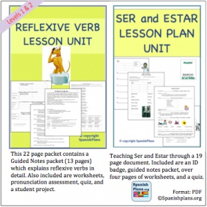 Reflexive verbs in spanish practice