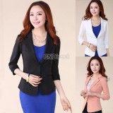 New Women Fashion Lace Blazer Slim Casual One Button Jacket Coat Outerwear Hot!!, http://www.shopcost.co.uk/