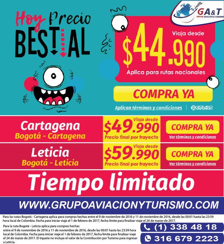 Viaja con los mejores precios solo con @grupoaviacionyturismo  https://goo.gl/sCT1TM
