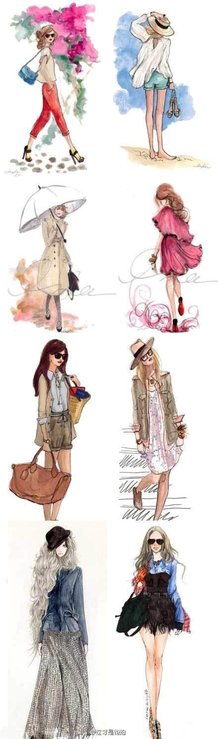Trendy illustrations