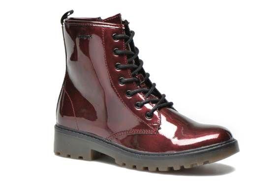 Geox J Casey Girl K (Bordeaux) - Bottines et boots chez Sarenza (234039)