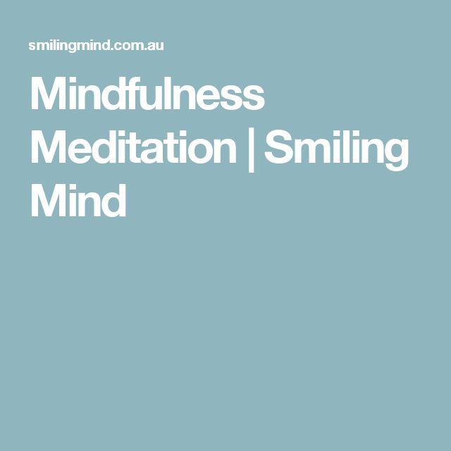 Mindfulness Meditation | Smiling Mind - most user friendly mindfulness app.