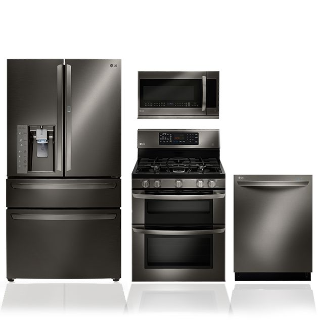 black and stainless kitchen discover the lg black stainless steel series featuring a black stainless steel finish and technology