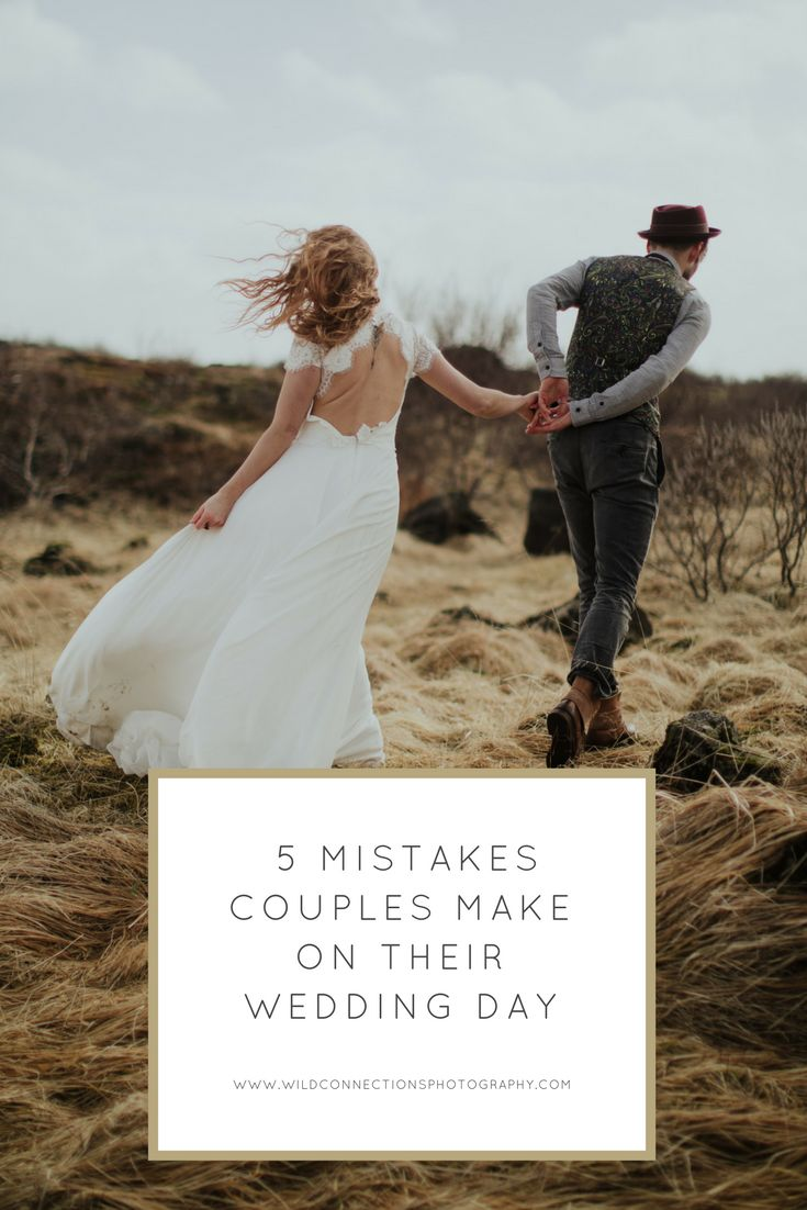 5 mistakes couples make on their wedding day and how you can avoid falling in to the same traps.  A wedding days flies by so fast, make sure you spend the day enjoying it and not worrying about the things you cannot change.