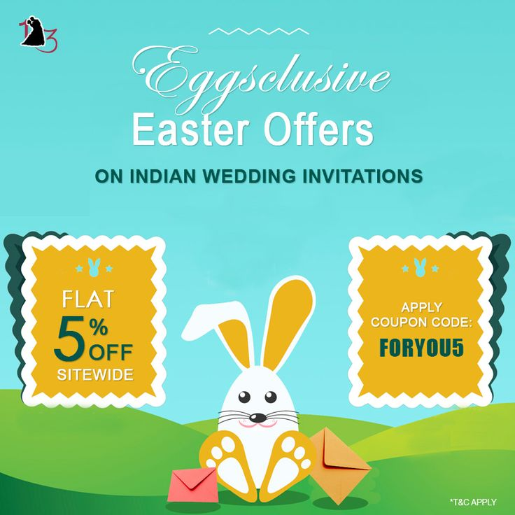 #EGGSCLUSIVE_EASTER_OFFER is here !! SHOP NOW AND SAVE MORE ON our Best selling #IndianWeddingInvitations