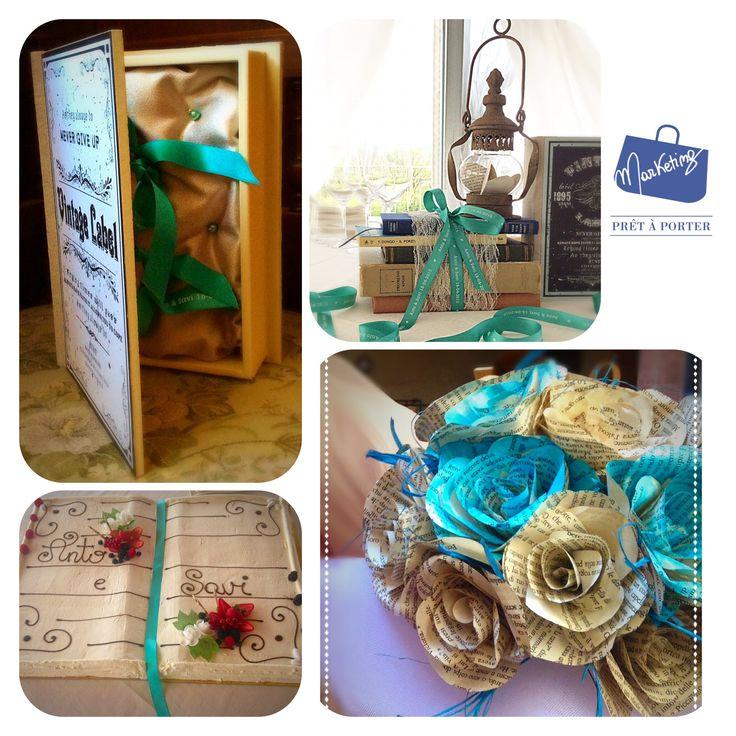 Un matrimonio da favola a tema libri. Portafedi Bouquet Centrotavola Wedding cake #weddingàporter #collaborazioniàporter #bookwedding #ilovemywork