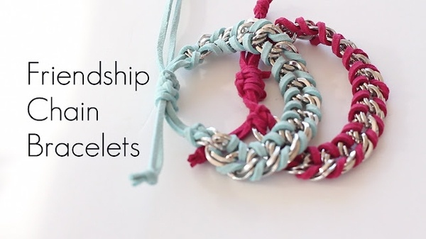 Learn how to make this easy Chain bracelet.Friendship Wraps, Stacked Bracelets, Crafts Ideas, Wraps Bracelets, Chains Bracelets, Diy Chains, Friendship Chains, Chains Friendship, Friendship Bracelets