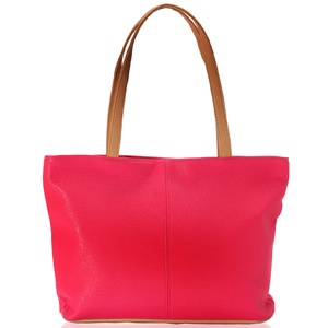 Grab this chic salmon pink & brown faux leather tote bag. Shop Now: http://www.tajonline.com/gifts-to-india/gifts-AR5451.html?aff=pintrest2013/
