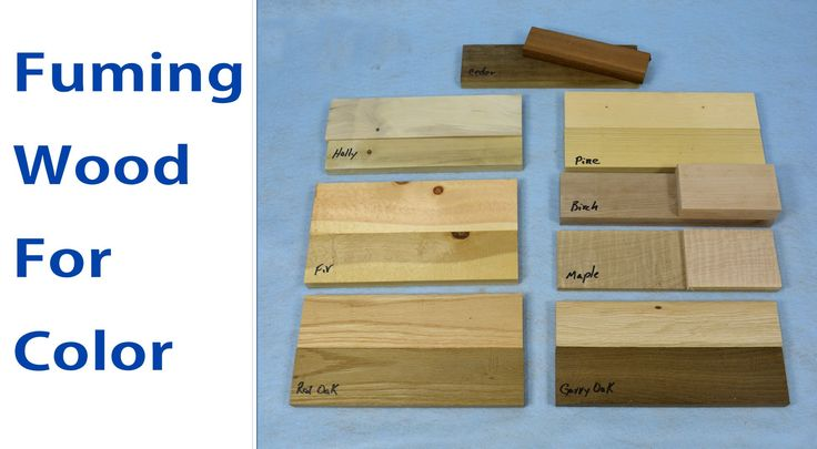 How to Fume Wood for Color. #woodworking