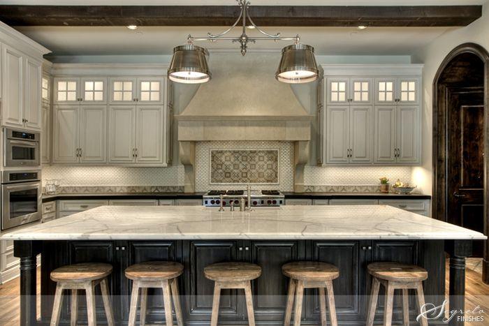 GORGEOUS neutral kitchen color scheme.  Cabinets - Segreto Finishes