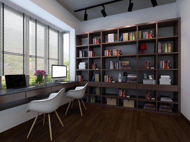 Study room home library 3D Model .max .c4d .obj .3ds .fbx .lwo .stl @3DExport.com by vizstudio3d