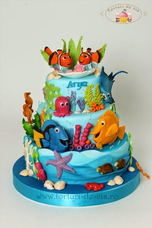 Torturi - Viorica's cakes: Pestisorul Nemo si prietenii lui