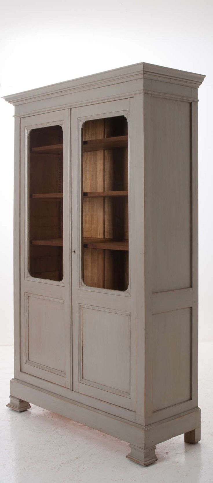 english 19th century painted pine bookcase