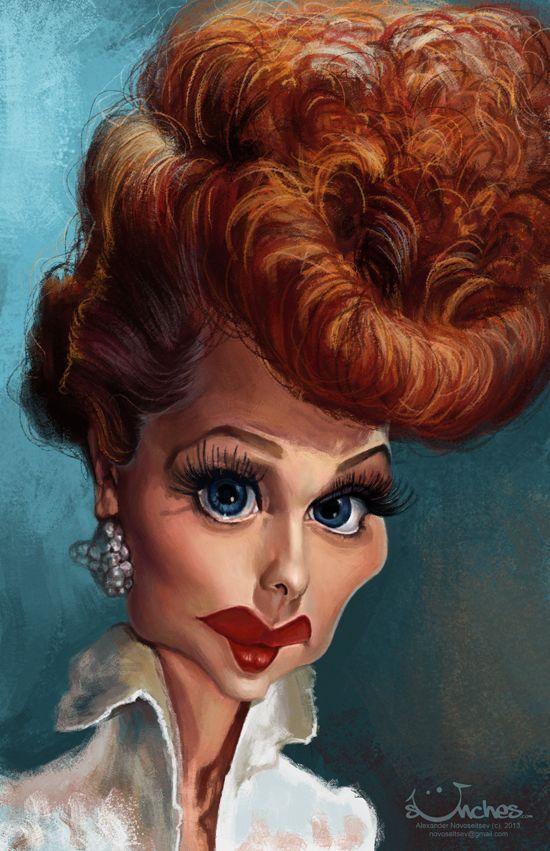 Caricaturas de famosos * http://9musas.net/caricaturas-de-famosos-6/ #LucilleBall