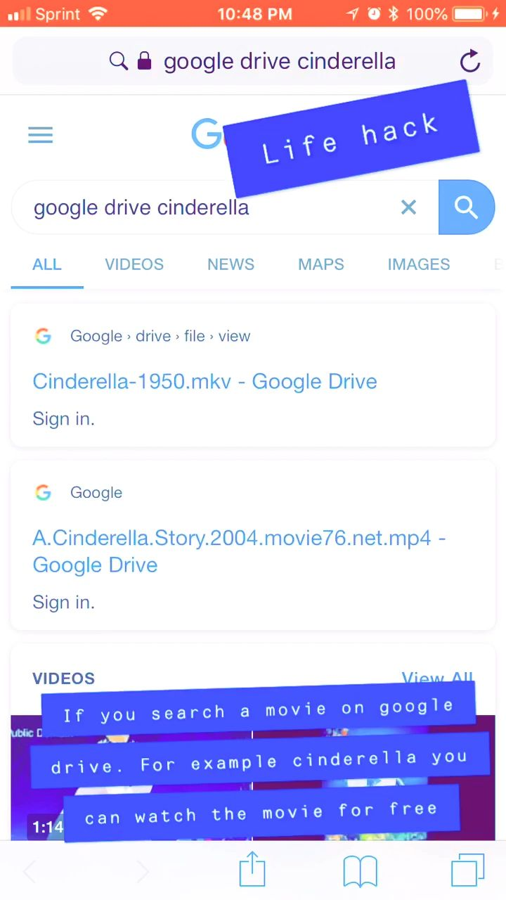 Google Drive Movie Hack