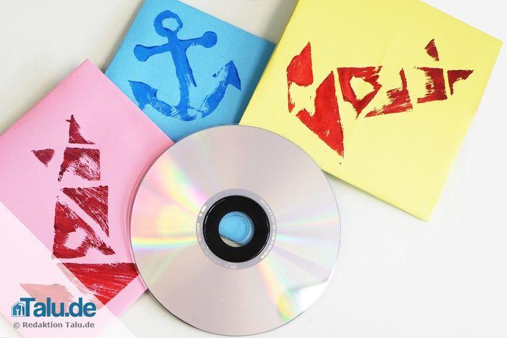 CD-Hüllen aus Papier falten – Vorlage zum Basteln