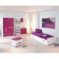 Kinderzimmermöbel Set Liliano in Weiß-Pink (5-teilig)