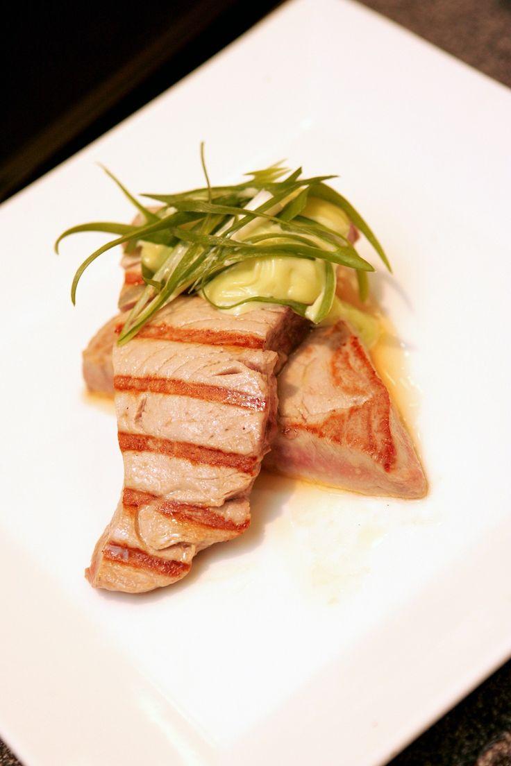 Seared tuna with wasabi mayo (Seafood BBQ class)