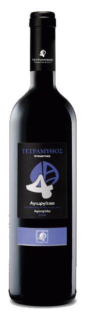 Tetramythos Wines  Agiorgitiko (2011 or 2012) Dry Red Wine  Grape Variety: 100% Agiorgitiko.  The wine is certified organic - Our price, DKK 99.00 (incl. moms)