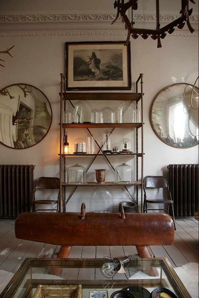 Alex Macarthur - Open House Metamorphoses   - gymnastic horse and antique mirrors #InteriorDesign
