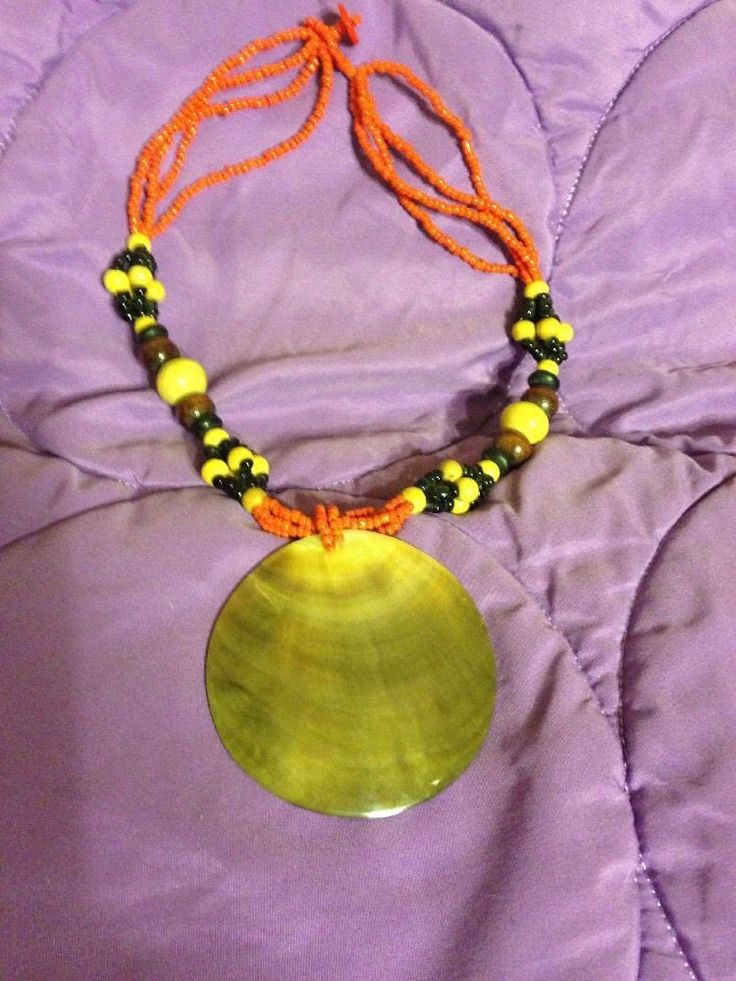 Cute necklace with seashell pendant.