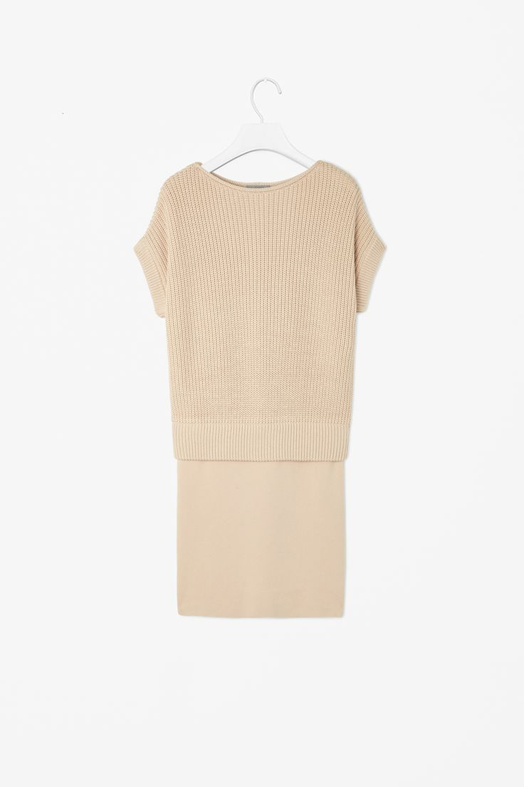 Contrast knit dress