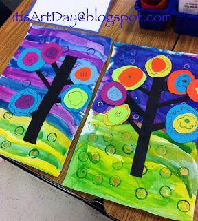 It is Art Day!: Kandinsky Trees