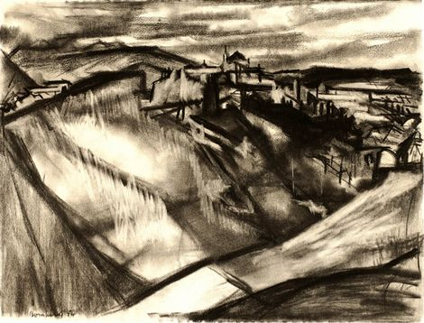 David Bomberg, Across the Valley Ronda