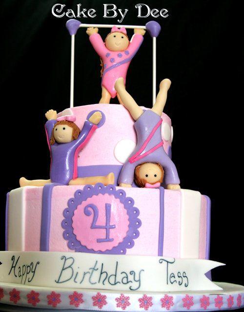 gymnastics birthday cake - Google Search