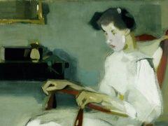 Helene Schjerfbeck: Keinutuolissa, 1910 (detail)