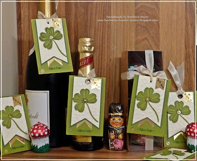 LOVE the 4 leaf clovers using Stampin' Up!'s flower shop stamp & coordinating punch