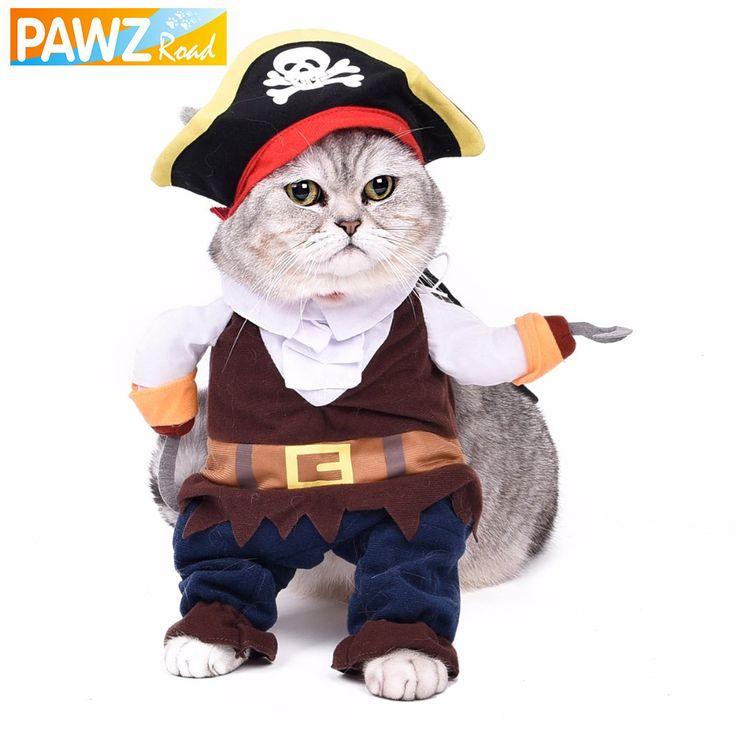 Funny Cat Clothes Pet Costume Play Puppy Role Play Cute Small Dog Pirates Clothing Kitten Hat Dog Apparel Cat Toy Suit