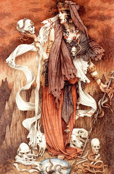 Anne Yvonne Gilbert | The Witch Of Endor | The Witch of Endor, sometimes called the Medium of Endor, was a medium who apparently summoned the prophet Samuel's spirit, at the demand of King Saul of the Kingdom of Israel in the First Book of Samuel.