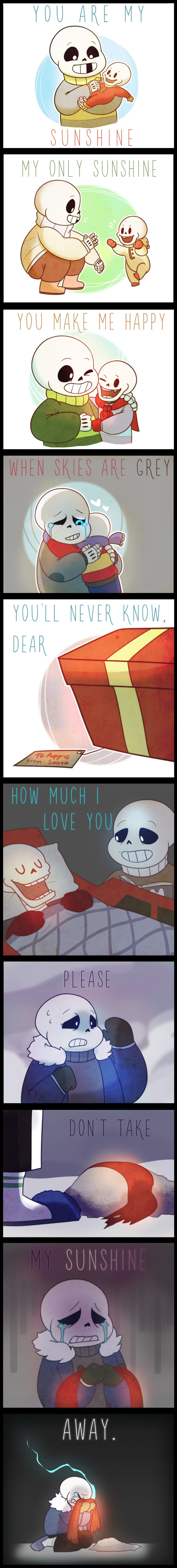 """Sans and Papyrus - """"You Are My Sunshine"""" song"""
