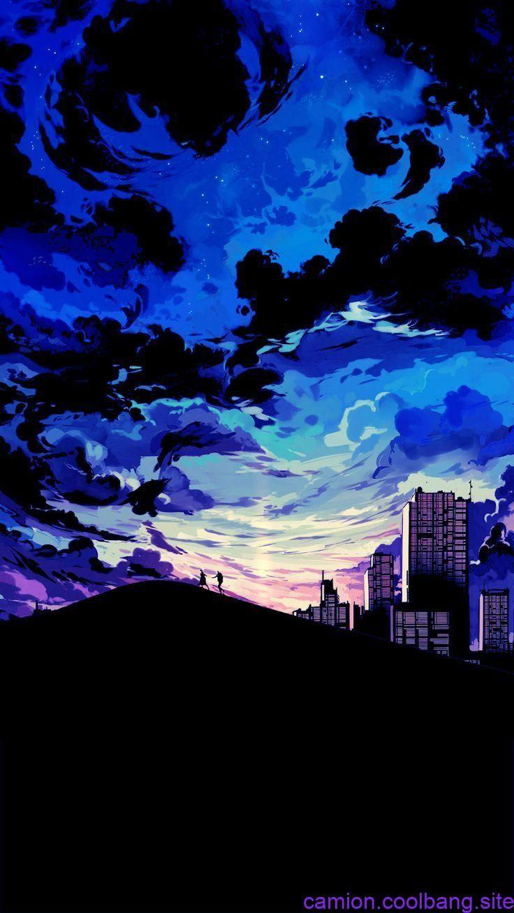 Wustenpaar Aber Sie Erleben Einen Anime Sonnenuntergang Artspiration Aber Animesonnenuntergang Anime Scenery Blue Wallpaper Iphone Landscape Wallpaper
