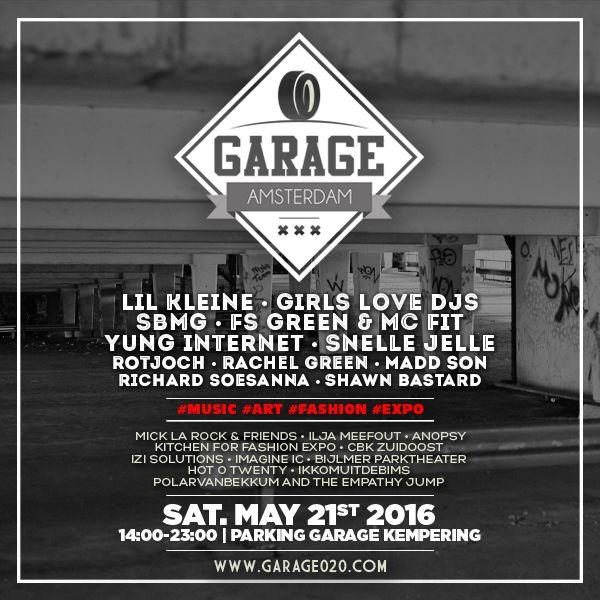 GARAGE AMSTERDAM X INVITATION - www.garage020.com