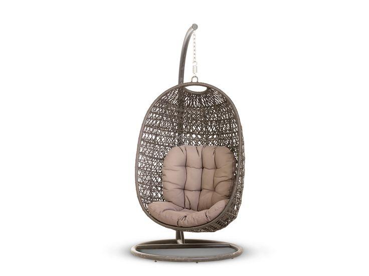 """""""Тенерифе"""" ,  639691, подвесное кресло в комплекте с подушкой, стойкой и креплениями, алюминиевый каркас, искусственный ротанг, размеры 960х1080х1970, цвет темно-коричневый             Метки: Кресло для отдыха, Садовые кресла из ротанга, Садовые кресла качели.              Объем: 2,042.              Материал: Металл, Ткань, Пластик.              Бренд: 4SiS.              Стили: Лофт, Прованс и кантри.              Цвета: Коричневый."""