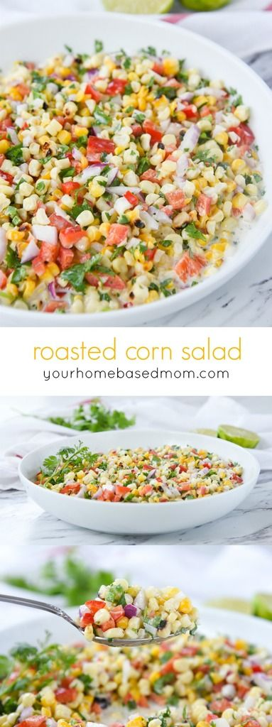 This roasted corn salad is a wonderful way to enjoy corn on the cob! Bring out the flavor by roasting it. It will become a summer favorite!  ROASTED CORN SALAD RECIPE