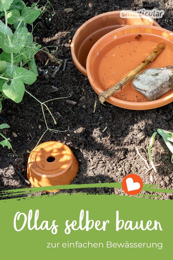 Ollas Selber Bauen Bewasserung Mit Naturlicher Tropfschlauch Alternative In 2020 Gartenbewasserung Hochbeet Bewasserung Garten