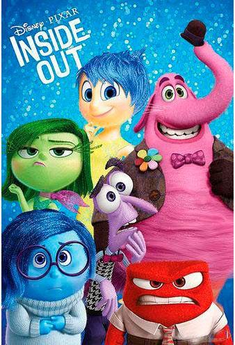 Póster Inside Out Póster con la imagen de la nueva película de animación Del Revés (Inside Out)