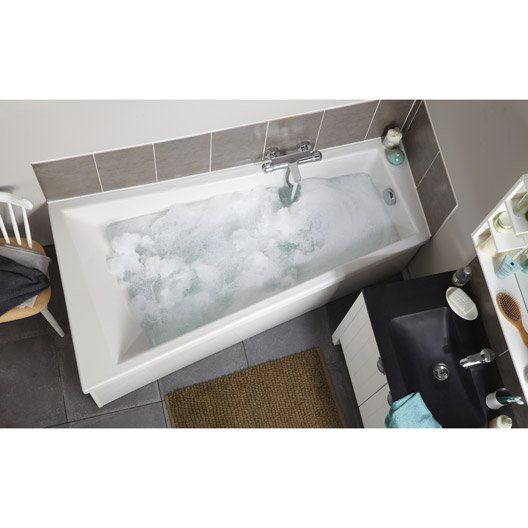 Baignoire asymétrique Premium design gauche SENSEA, acrylique, 170x90 cm