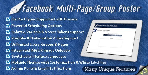 Facebook Multi-Page/Group Poster v3.16 - https://codeholder.net/item/php-scripts/facebook-multi-pagegroup-poster-v3-16