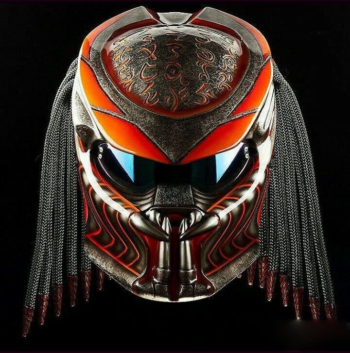 Predator Helmet Motorcycle Custom DOT approved