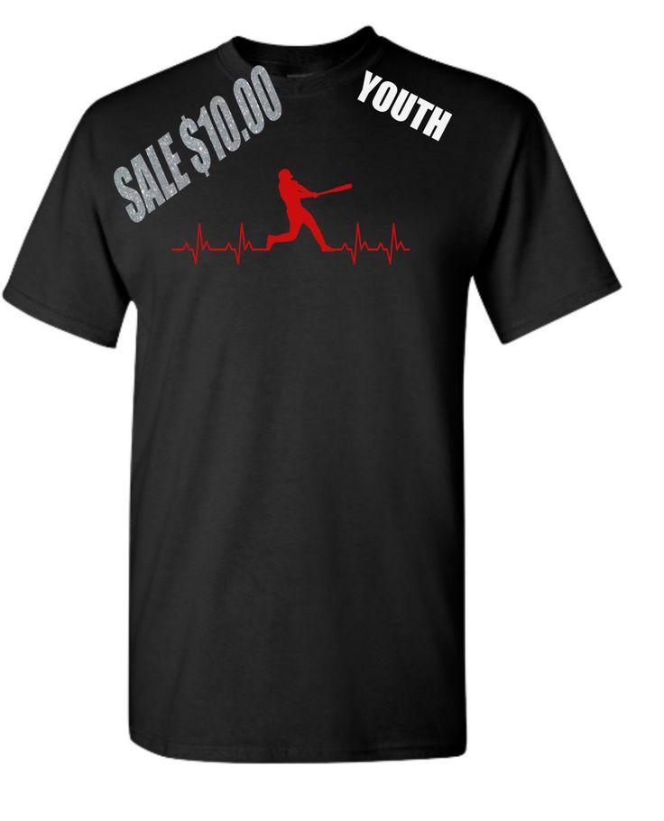 EKG Baseball Shirt. EKG Batter. Baseball Batter Shirt. Youth Baseball Shirt. Baseball Gifts. Coach gifts by TNTCustomApparel on Etsy