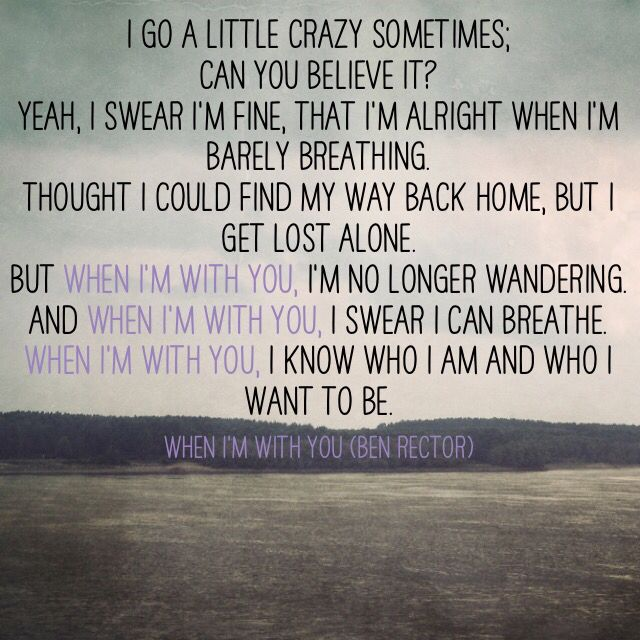 When I'm With You (Ben Rector) #lovesong #lyrics