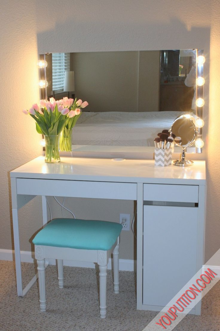 This is the desk I want for my vanity. There's shelving under that side drawer
