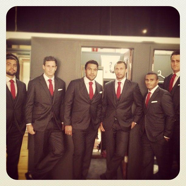 Men in suits .. rugby men in suits! ..