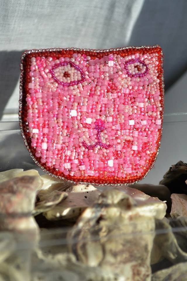 "Брошь ""Кот Сервелат"" Вышивка бисером Brooch ""Cat Servelat""  beadwork"